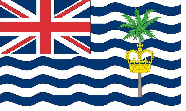 Drapeau territoire britannique océan Indien
