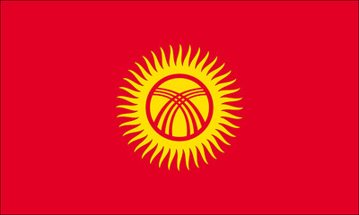 Drapeau Kirghizstan Kirghizistan