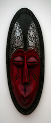 Red African Mask