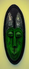 Green African Mask