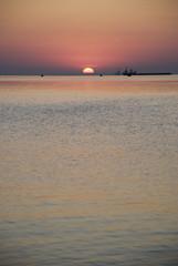 Dawn above ocean