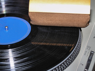 Cleaning vinyl LP record