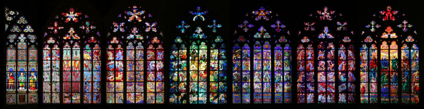 St Vitus Stained Glass Window collection