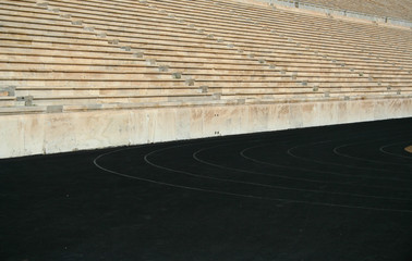 First modern olympic games stadium tracks detail