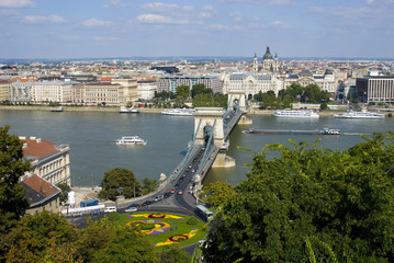 Printed kitchen splashbacks Budapest chain bridge in budapest