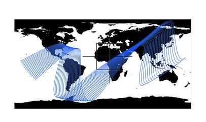 Carte afrique et maillage