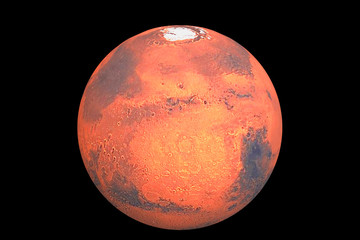 Planet mars the traditional god of war