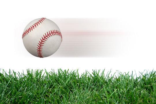 Baseball after impact