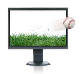 Monitor and baseball