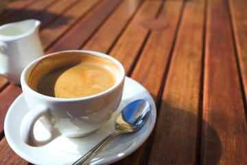 Early morning coffee