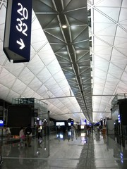 Hong Kong Airport Terminal Interior