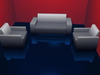 Fototapeta Simple Living Room - High Quality Reflections obraz