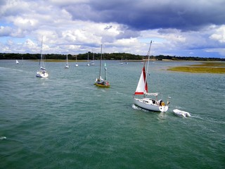 Yacht Regatta - Yachts into Harbour