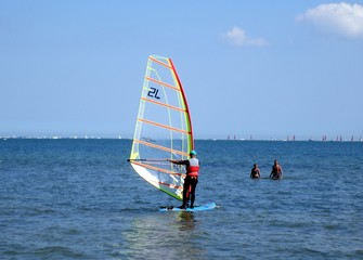 Southampton Solent - Windsurfer on the Solent
