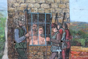 Fresque femme en prison