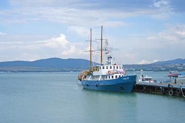 Ship near the berth