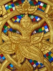Laos, Vientiane Temple Detail