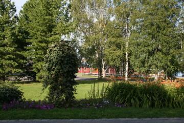 Park scene in Lulea, Sweden