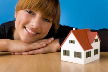 Beauty and house miniature