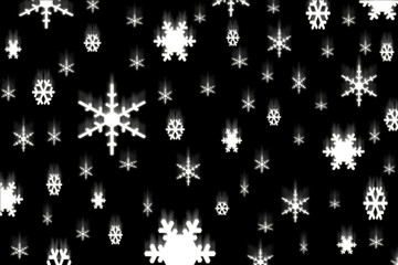 Falling Snowflakes on a Black Background
