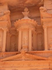 Treasury, Al-Khazneh, upper facade, close up, Petra, Jordan
