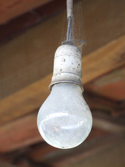 Old dirty lamp