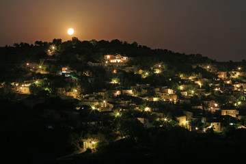 Beautiful moonlight landscape