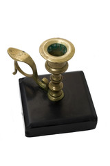 Bronze candlestick isolated