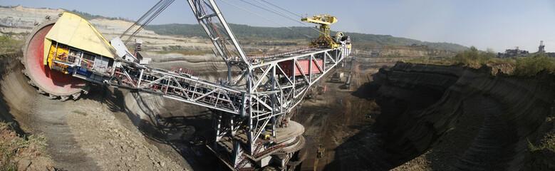Coal quarry panorama