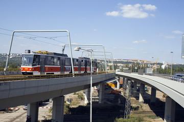 Tram on the Bridge