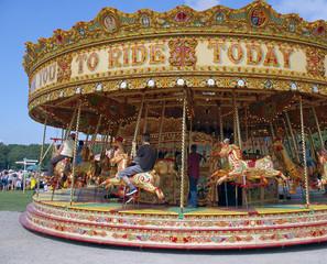 Door stickers Amusement Park Fairground Carousel