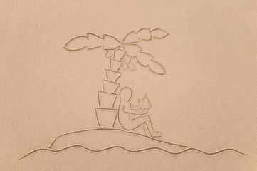 Desert Island man