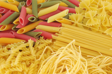 Many types of pasta composition