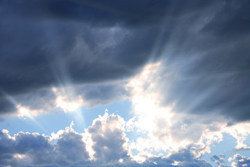 Rays of Sunshine through Clouds