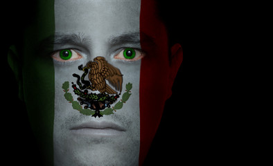 Mexican Flag - Male Face