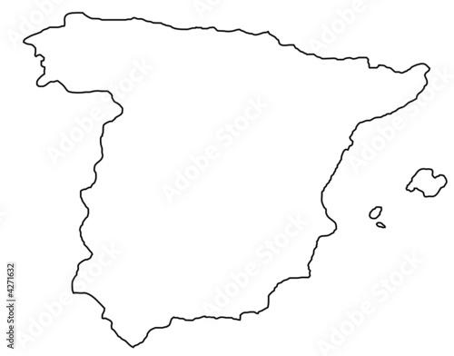 carte espagne vectorielle