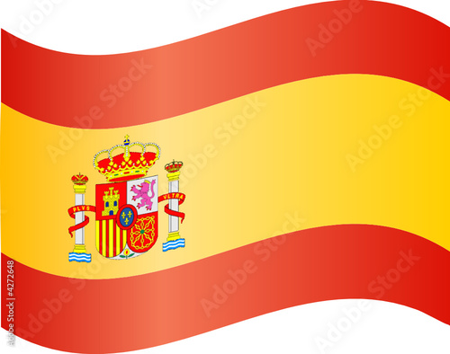 drapeau espagnol flottant - Drapeau Espagnol A Imprimer