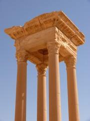 Ancient columns, archaeological site, Palmyra, Syria