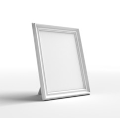 The frame on a white background