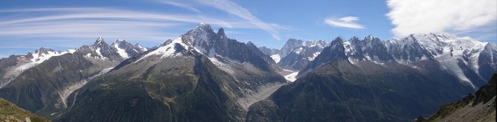 massif du mont blanc vu de la Flégère