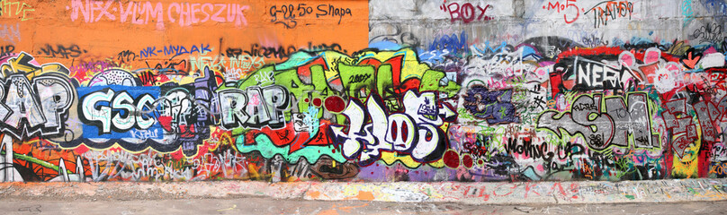 Poster de jardin Graffiti wall with graffity