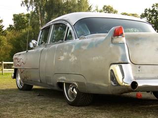 Foto op Plexiglas Oude auto s American Classic - Flames