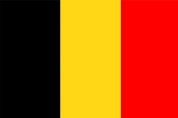 Flagge Belgien - fototapety na wymiar