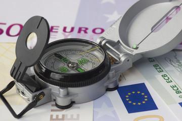 Euros und Kompass