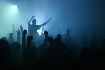 Hands up - rock concert
