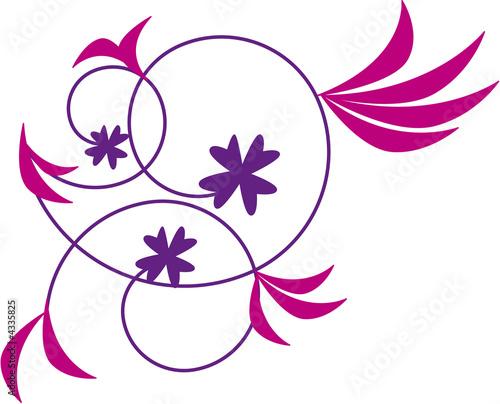 Dessin Fleur Violette Journalphoto