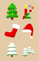 Weihnachtssymbole - Christmas elements