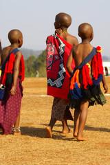 Suazi children in traditional attire - Reed Dance 2007