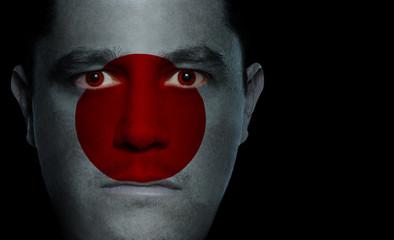 Japanese Flag - Male Face