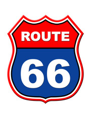 Route 66 sign. High resolution illustration